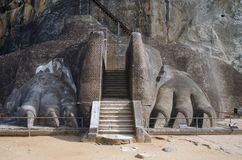 Sigiriya. Sri Lanka Arkivbild