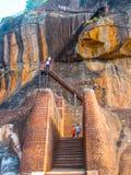 Sigiriya, Sri Lanka - April 30, 2009: Lion Rock Fortress Royalty Free Stock Images
