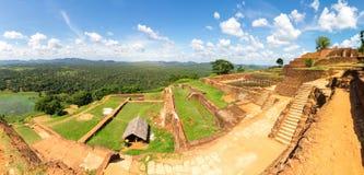Sigiriya Sri Lanka, buddha temple, panoramic view stock photo