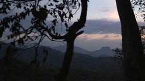 SIGIRIYA, SRI LANKA - FEBRUAR 2014: Ansicht von Sigiriya vom Abstand Sigiriya ist ein alter Palast, der im zentralen Mata gelegen stock video