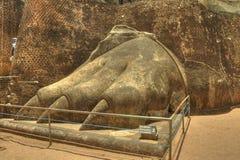Sigiriya, Sri Lanka - la roca del león, fortaleza de la roca Foto de archivo