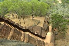 Sigiriya, Sri Lanka - la roccia del leone, fortezza della roccia Fotografia Stock