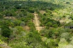 Sigiriya Sri Lanka - lejonet vaggar, vaggar fästningen Arkivfoton