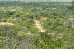 Sigiriya Sri Lanka - lion'sen vaggar, vaggar fästningen Arkivbild