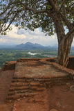 Sigiriya - view from the top & x22;Lion Rock& x22;. Royalty Free Stock Photos