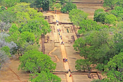 Sigiriya Water Garden - Sri Lanka UNESCO World Heritage Stock Photo