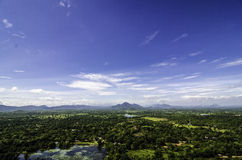 Sigiriya widok Sri Lanka zdjęcie stock