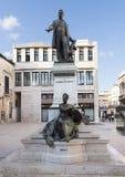 Sigismondo Castromediano和拟人雕象自由在莱切,意大利 免版税库存图片