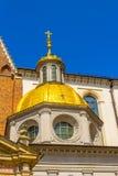 Sigismund的Cathedral和教堂,在Wawel小山,克拉科夫,波兰的皇家城堡国王 免版税库存照片