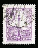 Sigismund纪念碑,华沙被重画,大约1926年 免版税库存照片