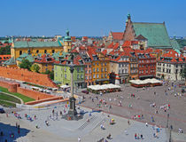 Sigismund's Column at Castle Square, Warsaw, Poland Stock Photo