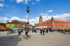 Sigismund's Column in Warsaw in Poland Stock Images