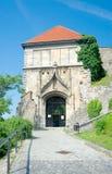 Sigismundpoort (XV eeuw) van het Kasteel van Bratislava, Bratislava, SL Stock Fotografie