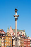 Sigismund's Column in Warsaw Stock Photos