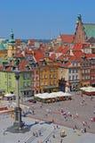 Sigismunds kolumna przy kasztelu kwadratem, Warszawa, Polska fotografia stock