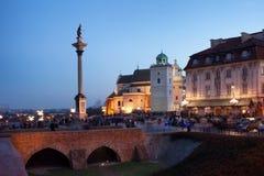 Sigismunds Spalte und St. Anne Church in Warschau lizenzfreie stockbilder