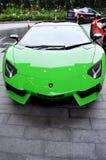 Süßigkeit apfelgrünes Lamborghini Stockfotografie