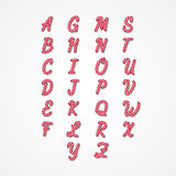 Süßigkeit Cane Alphabet Stockfotografie