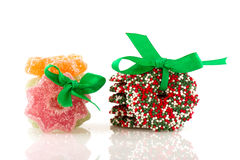 Süßigkeit-Weihnachtswreath Lizenzfreies Stockfoto