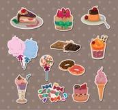 Süßigkeitaufkleber Stockfoto