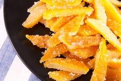 Süßigkeiten von der orange Schale Lizenzfreies Stockfoto