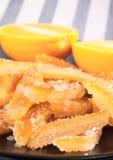Süßigkeiten von der orange Schale Stockbilder