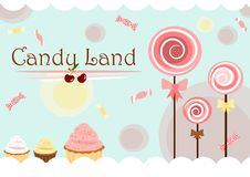 Süßigkeitland Stockfoto