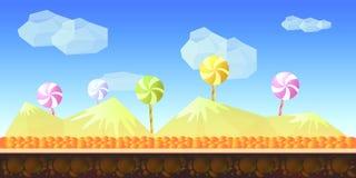 Süßigkeits-Spiel-Hintergrund Lizenzfreie Stockfotografie