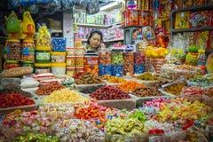 Süßigkeits-Verkäufer, Ho Chi Minh City, Vietnam Stockfoto