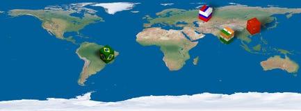 Siglas de Bric para el Brasil, Rusia, la India, China Foto de archivo libre de regalías