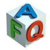 Siglas del FAQ Fotos de archivo libres de regalías