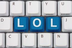 Siglas LOL de la charla de Internet Foto de archivo libre de regalías