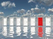 κόκκινο sigle πορτών Στοκ Εικόνες