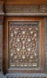 Sigle arabesque ζώνη ενός παλαιού ντουλαπιού εποχής mamluk με τις γεωμετρικές διακοσμήσεις, Κάιρο, Αίγυπτος στοκ φωτογραφία με δικαίωμα ελεύθερης χρήσης