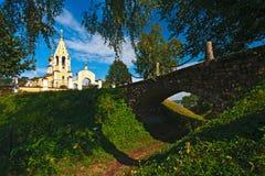 Siglo ruso de la iglesia XIV Gorodnya Imagenes de archivo
