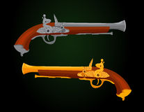 Siglo XVIII de la pistola Fotografía de archivo