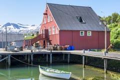 Siglufjördur Island Royaltyfri Bild