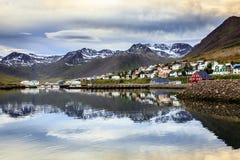 Siglufjordur,冰岛 库存照片
