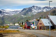Siglufjordur, Islândia Foto de Stock Royalty Free