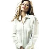 ξανθό αισθησιακό πουκάμι&sigm Στοκ εικόνα με δικαίωμα ελεύθερης χρήσης