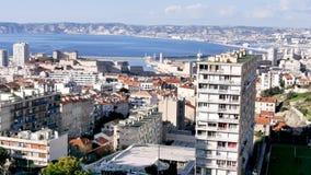 Πανόραμα της Μασσαλίας, Γαλλία απόθεμα βίντεο