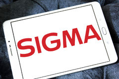 Sigma company logo stock photos
