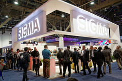 Sigma Convention Booth at CES Royalty Free Stock Image