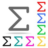 Sigma greek letter icon. Elements in multi colored icons for mobile concept and web apps. Icons for website design and development. App development on white Stock Images