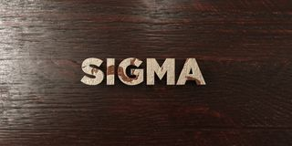 Sigma - grungy wooden headline on Maple  - 3D rendered royalty free stock image. This image can be used for an online website banner ad or a print postcard Royalty Free Stock Images