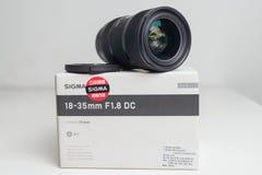 Sigma 18-35 1 8 lens dichte omhooggaand stock afbeeldingen