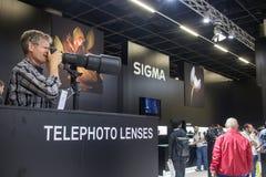 Sigma på Photokina 2016 Fotografering för Bildbyråer