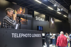 Sigma in Photokina 2016 Stock Afbeelding