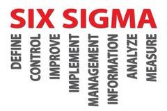 Sigma zes royalty-vrije illustratie