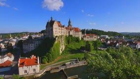 Sigmaringen Castle, Baden Wurttemberg, Germany stock footage
